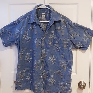 Mens old navy crinkle cotton short sleeve shirt